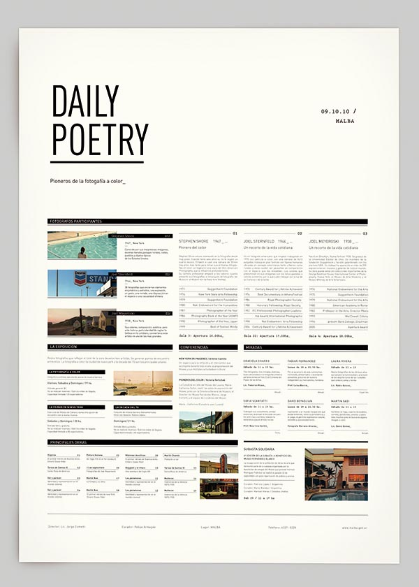 Daily Poetry - Graphic Design by Clara Fernández