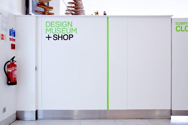 Identity for Design Museum Shop by studio Spin