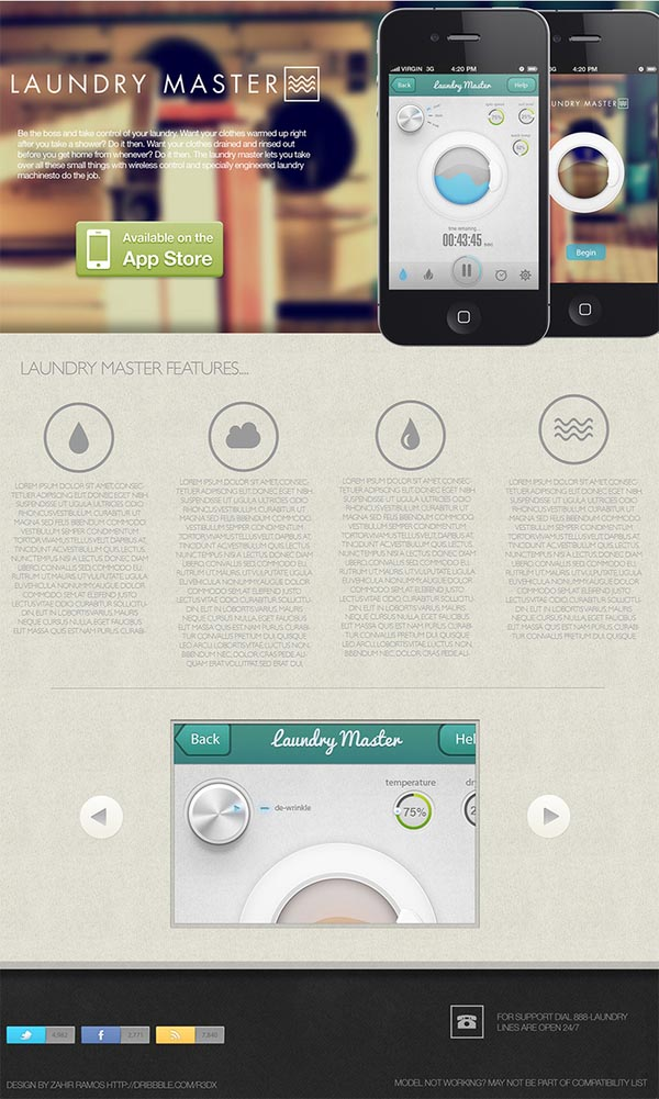 App Design Concept Laundry Master by Zahir Ramos