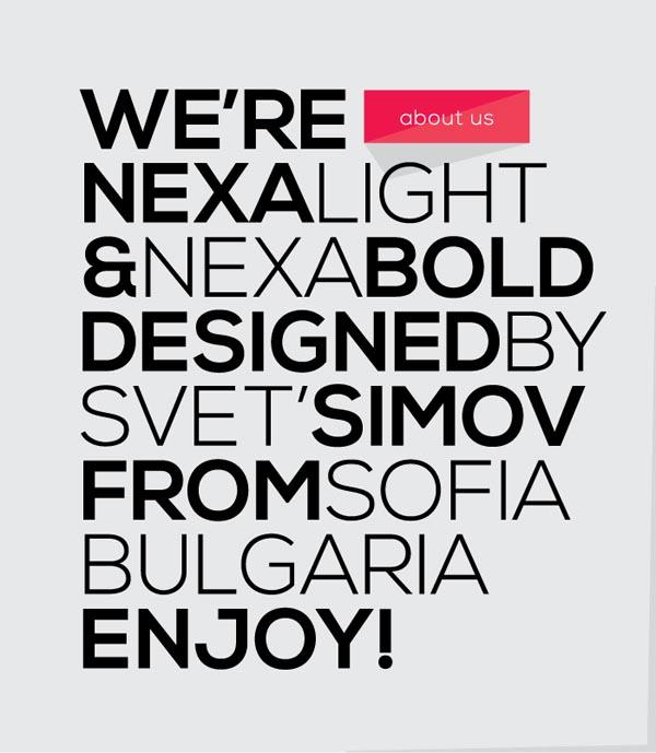 NEXA - Free Font