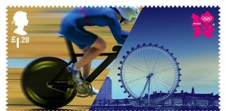 Olympic Stamps - Athletes with London Landmarks