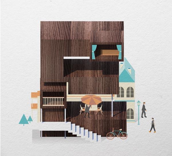 Resort Type Illustration by Jing Zhang (E)