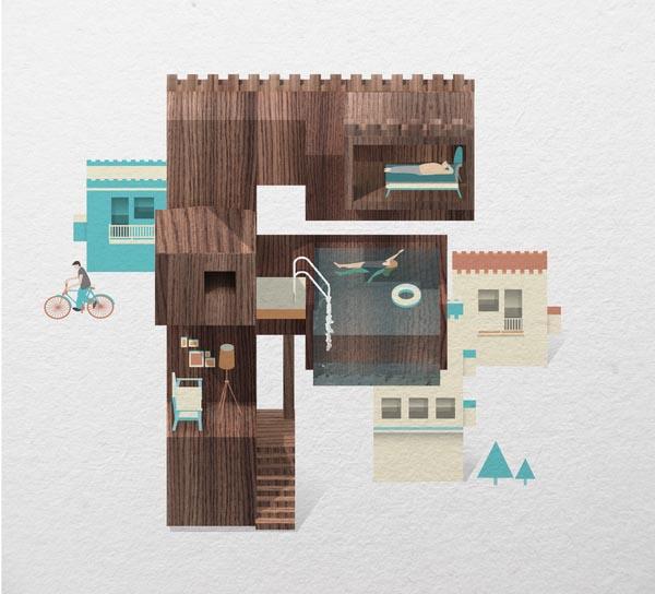 Resort Type Illustration by Jing Zhang (F)