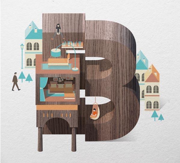 Resort Type Illustration by Jing Zhang (B)