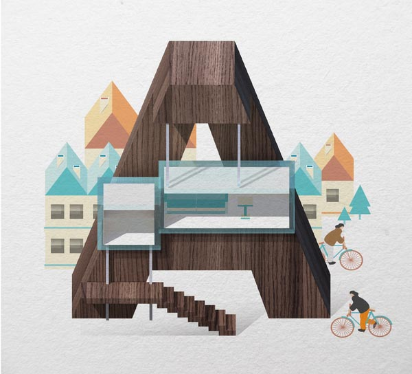 Resort Type Illustration by Jing Zhang (A)