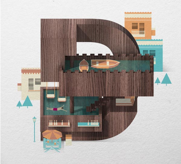 Resort Type Illustration by Jing Zhang (D)