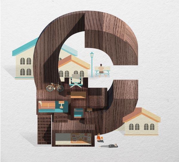 Resort Type Illustration by Jing Zhang (C)
