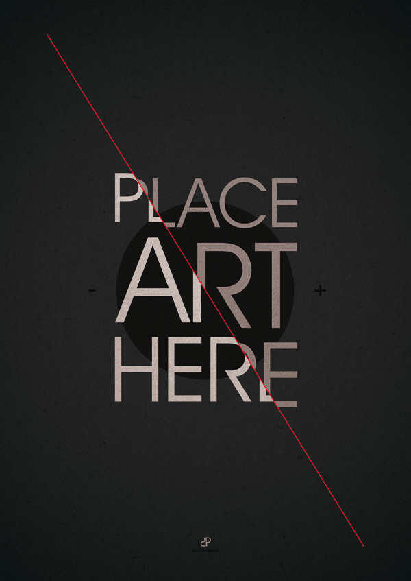 Buy Posters and Prints: The Art Placeholder - Typography Design by Dirk Petzold