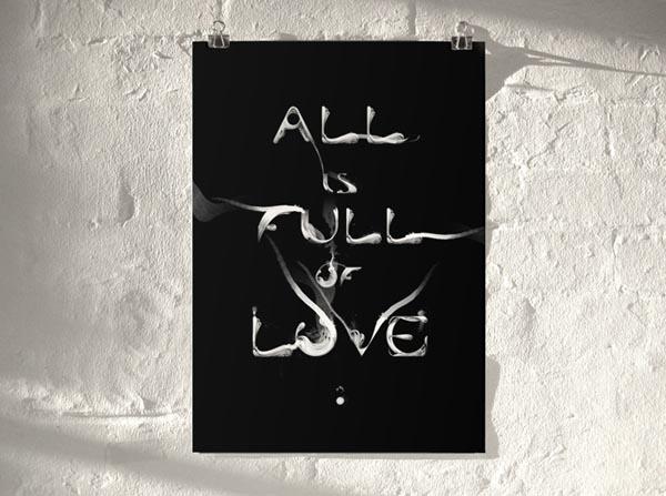 Typographic Prints by artist Von