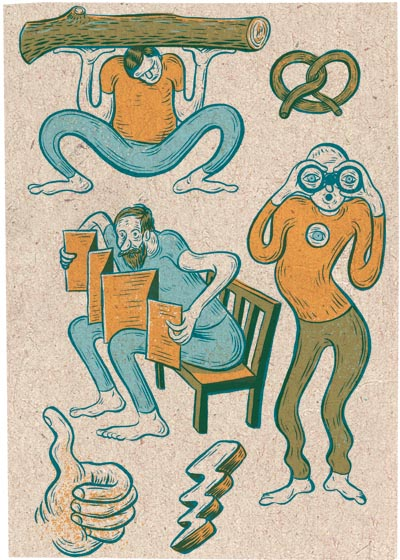 People and Stuff - Illustration by Evan Hughes