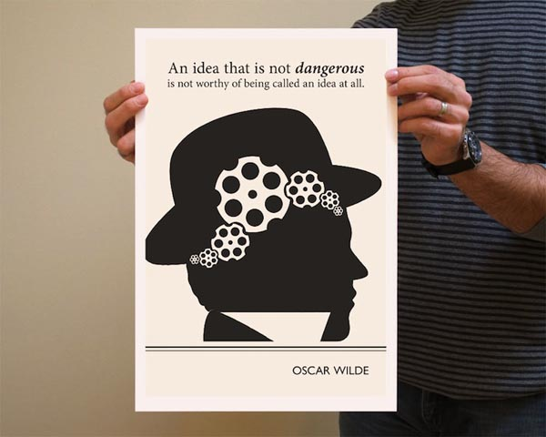 Book Quote Oscar Wilde Poster Illustration by Evan Robertson
