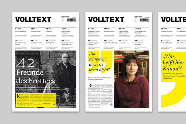 Corporate Design and Editorial Design for Volltext Magazine