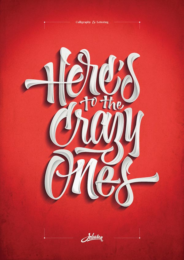 Custom Lettering Typography Poster Design By Joluvian