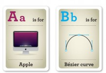 Designer Nerds - Alphabet Flash Cards A-D