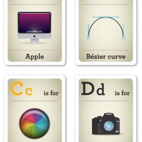 Design Nerds - Alphabet Flash Cards by Emma Cook