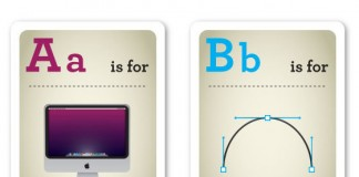 Designer Nerds - Alphabet Flash Cards A-D