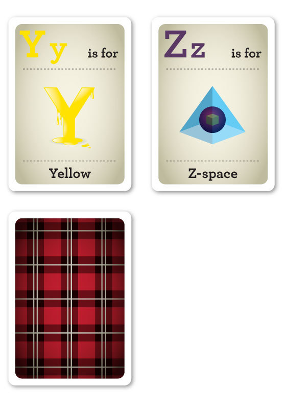 Designer Nerds - Alphabet Flash Cards Y-Z
