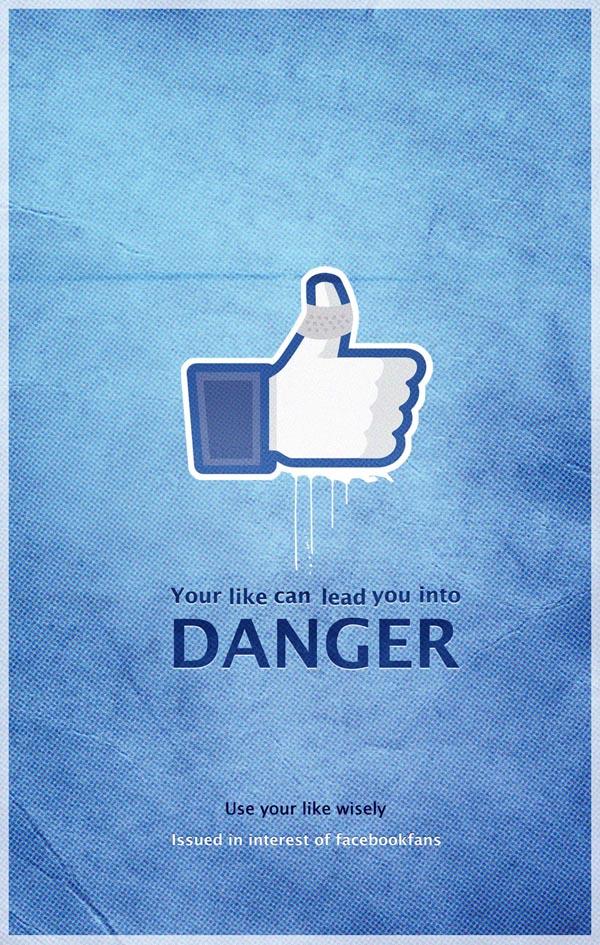 Facebook Danger Poster by Pankaj Bhagat