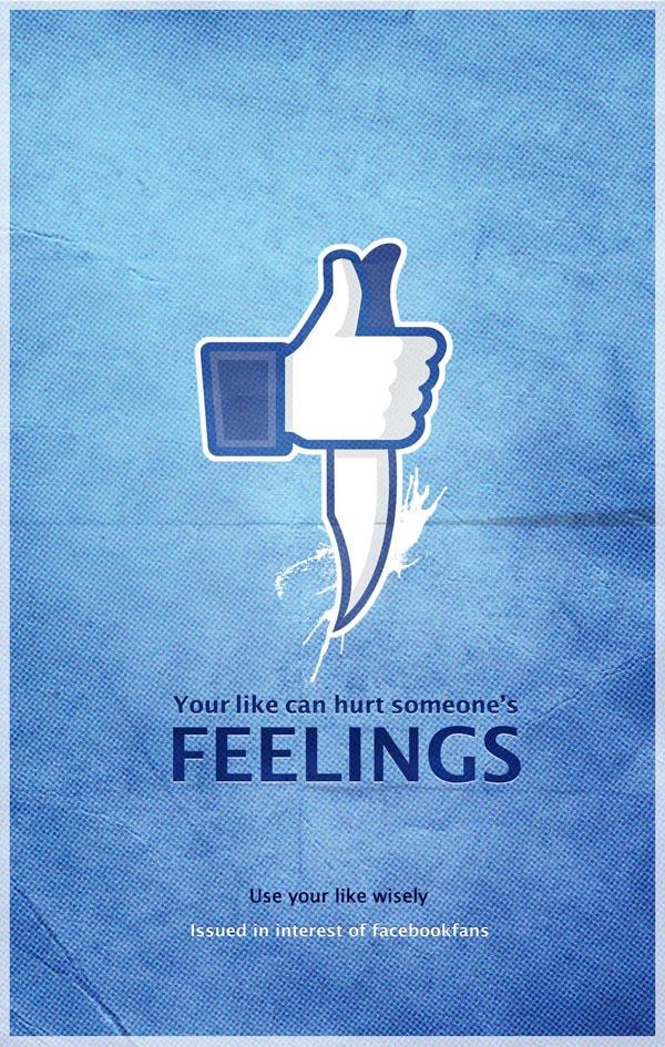 Facebook Feelings Poster by Pankaj Bhagat