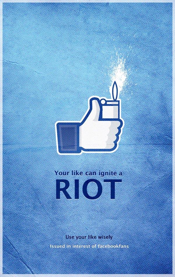 Facebook Riot Poster by Pankaj Bhagat