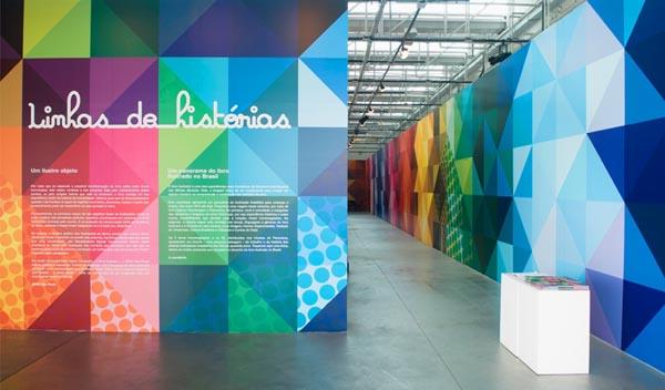 Exhibition Design by Campo for Linhas de Histórias - SESC Belenzinho
