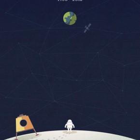 Neil Armstrong Tribute Illustration by Nico Encarnacion