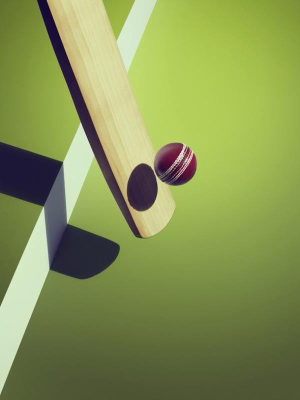 Sports and Surreal Shadows by Kelvin Murray - Cricket