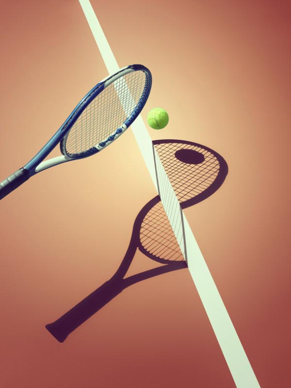 Sports and Surreal Shadows by Kelvin Murray - Tennis
