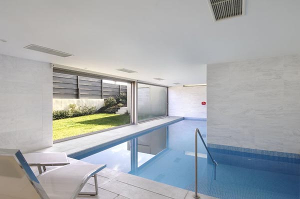 Pool Inside the Luxurious House in Madrid, Spain