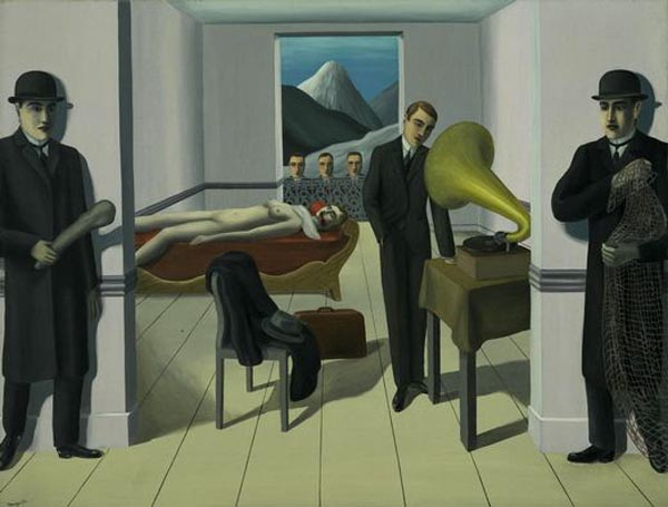 The Menaced Assassin by René Magritte