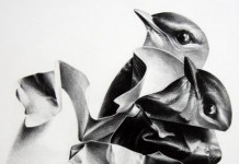 Two Birds - Drawing by Christina Empedocles