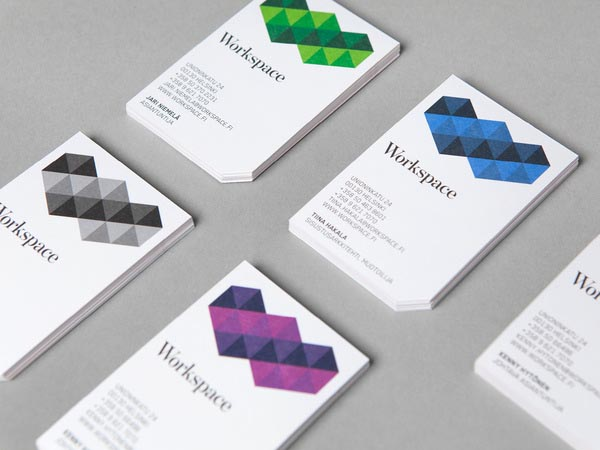workspace identity with print and web design by bond