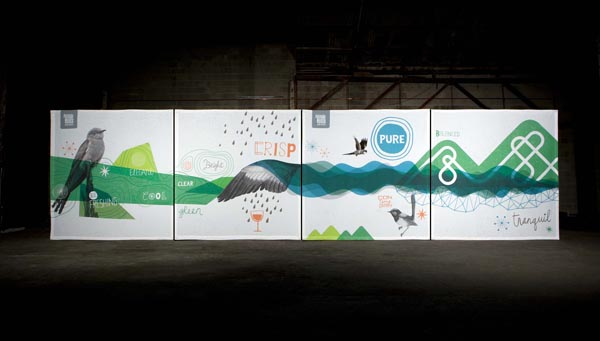 Adelaide Hills Wine - Panels designed by Voice