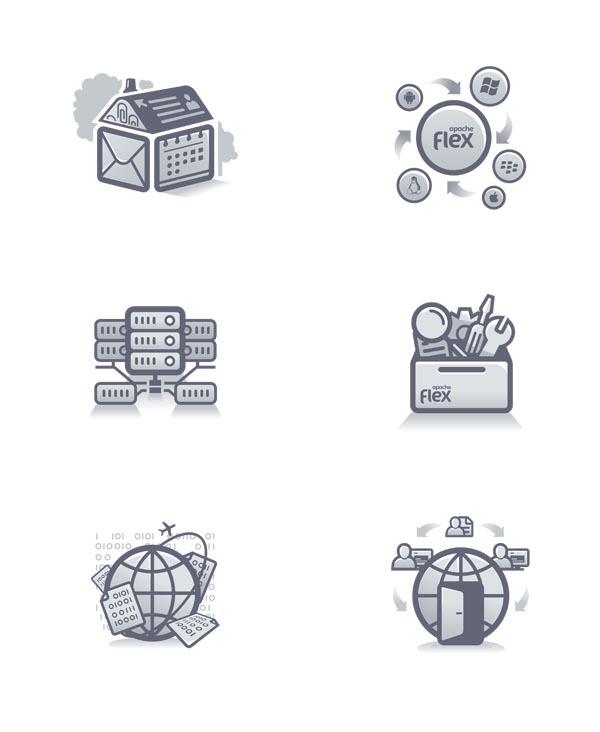 Apache Flex - Icons for Web Design Concept by Fuse Collective