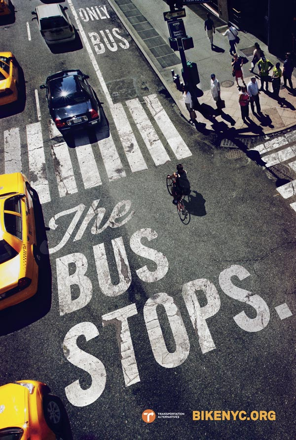 BUS STOPS - New York City Bike Campaign