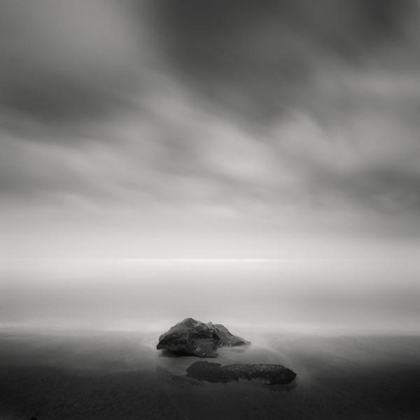 Black and White Photography - Rocks in the Sea by Nathan Wirth