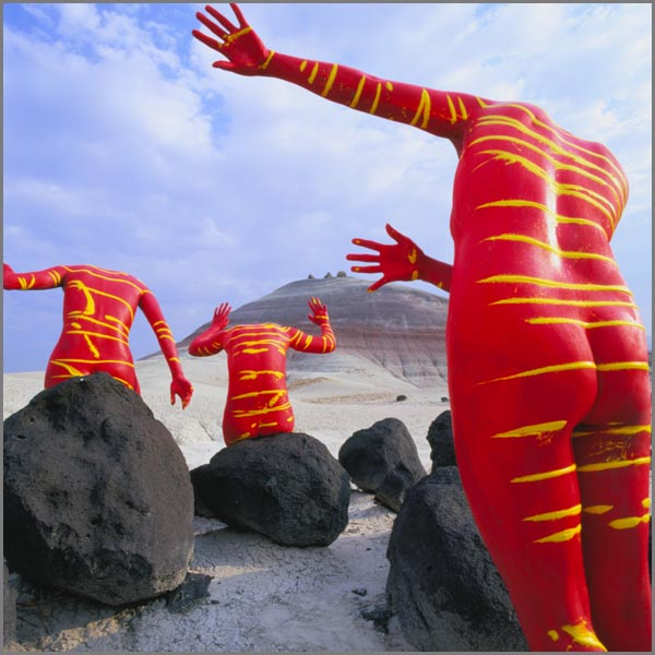Bodyscapes - Body Paintings Interacting with the Landscape by Jean-Paul Bourdier