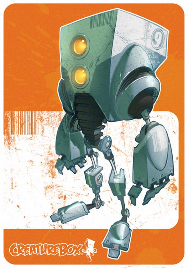 Robots Character Design and Illustration by CreatureBox