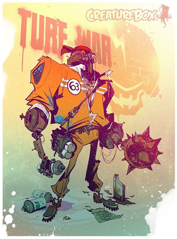 Robot Character Design by CreatureBox