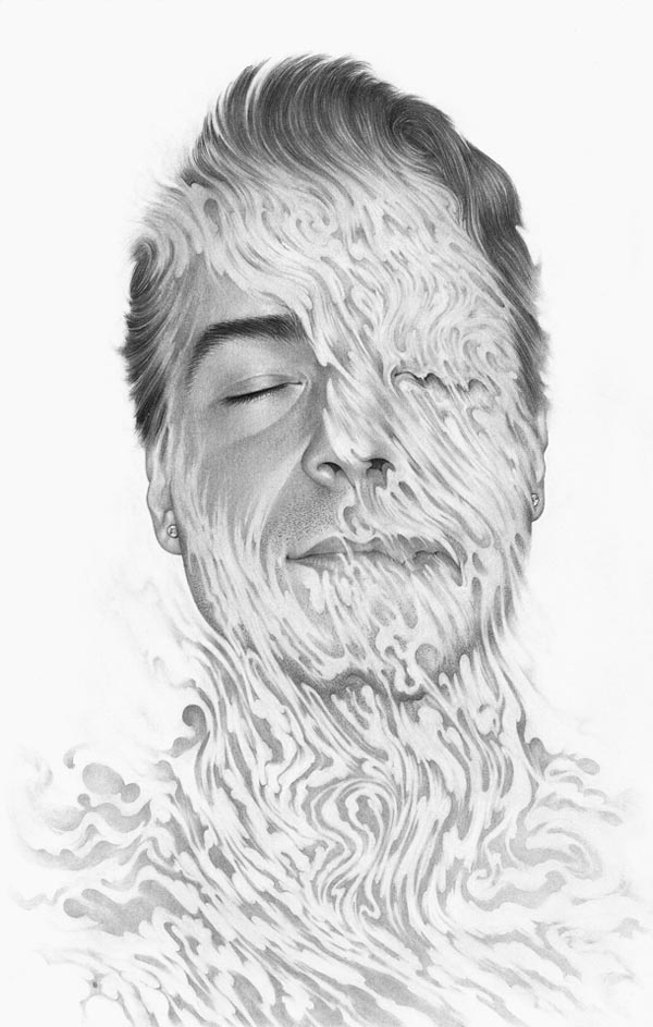 Ebb and Flow - Experimental Portrait Illustration by Boris Pelcer
