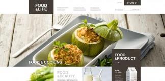 Food&Life Website Concept