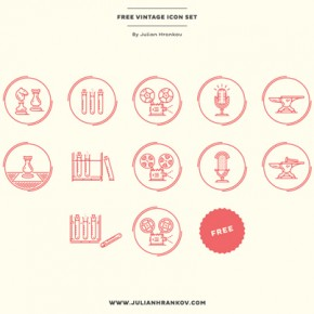 Free Vintage Icons by Julian Hrankov