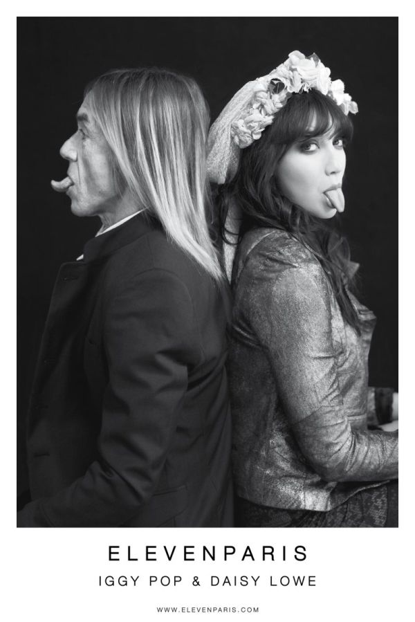 Iggy Pop and Daisy Lowe - Fashion Photography by Mathieu César for ELEVEN PARIS - Fall Winter Campaign 2012 - 2013