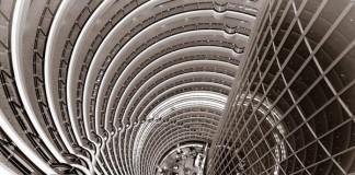 Inside the Grand Hyatt Hotel in Shanghai - View from 80th Floor