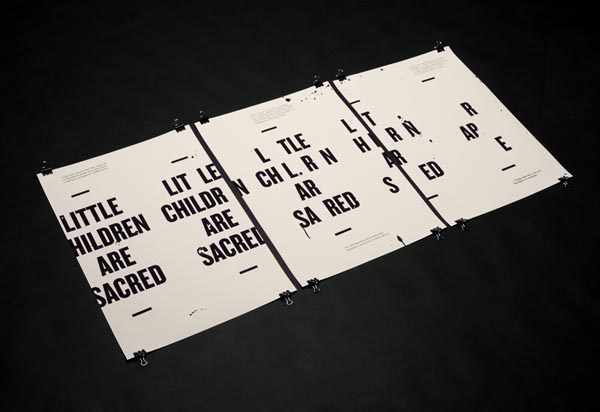 Little Children are Sacred - Typographic Poster Design by Luke Robertson