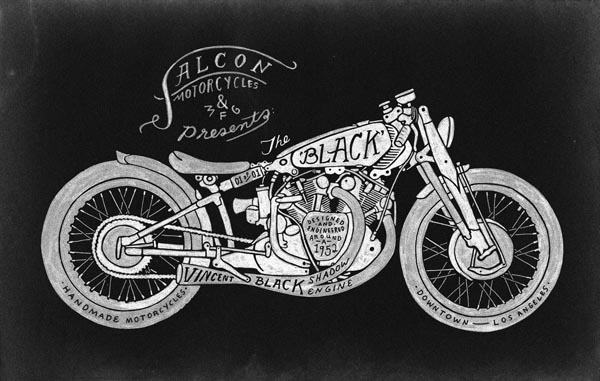 Motorcycle Illustration by Caleb Owen Everitt