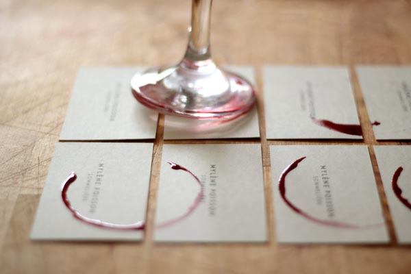 Mylene Poisson, Sommelier - Customized Business Cards by CASERNE