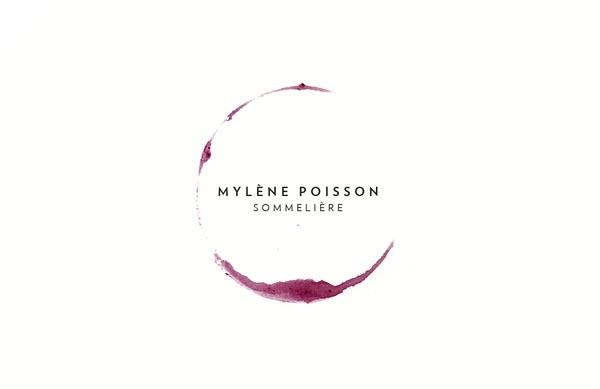 Mylene Poisson, Sommelier - Custom Logo Design by CASERNE