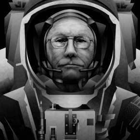 Neil Armstrong - Tribute Poster by Mitchell Nelson