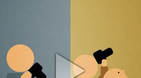 Paris vs New York - Animated Short - Motion Graphics by Tony Miotto